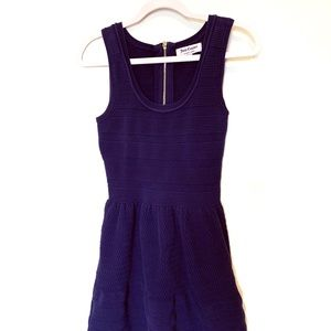 Juicy Couture Navy Blue Knitted Dress Sleeveless